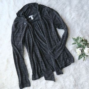 Black and Grey Croft & Barrow Cardigan